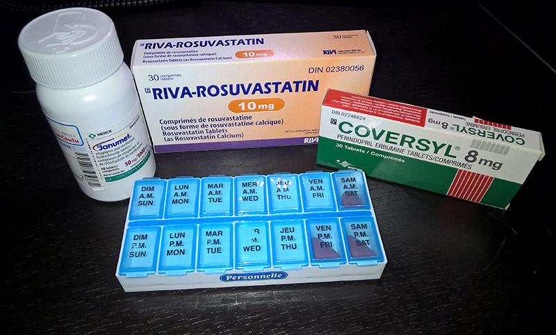 Diabètes type 2, Haute pression et cholestérol. Médication 2 fois par jour...